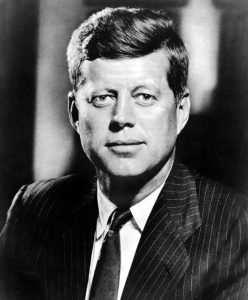 John F. Kennedy, 1960s.